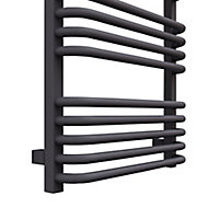 Terma Alex 412W Modern grey Towel warmer (H)760mm (W)500mm