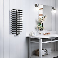Terma Michelle Black Towel warmer (H)780mm (W)400mm