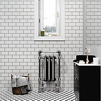 Terma Plain Black Towel warmer (H)940mm (W)490mm