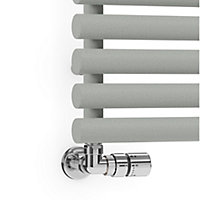 Terma Rolo Towel Salt & Pepper Towel warmer (H)755mm (W)520mm
