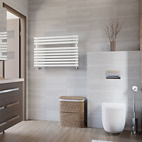Terma Rolo Towel White Towel warmer (H)590mm (W)520mm