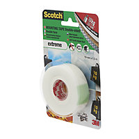 Scotch White Mounting Tape (L)1.5m (W)19mm