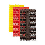 Rawlplug Multicolour Plastic Wall plug, Pack of 144