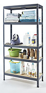 5 shelf Steel & MDF Storage shelving unit