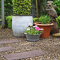 Earth brown Single size Railroad tie Stepping stone 0.15m²