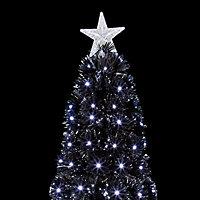 5ft Black slim Fibre optic christmas tree