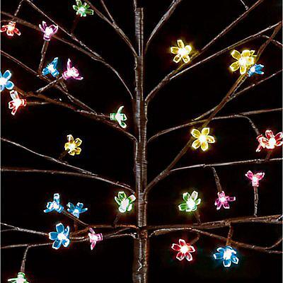 5ft Multicolour Cherry Blossom Artificial Christmas Tree Diy At B Q