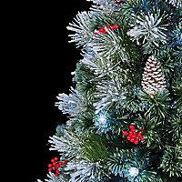 5ft Snow tipped Fibre optic christmas tree