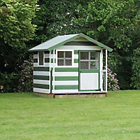 5x5 Poppy Wooden Playhouse with base