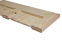6 Panel Knotty pine Internal Standard Door, (H)1981mm (W)838mm