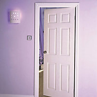 6 panel Primed White LH & RH Internal Door, (H)1981mm (W)762mm