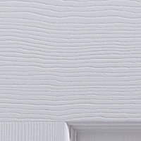 6 panel Primed White Woodgrain effect LH & RH Internal Door, (H)1981mm (W)838mm (T)35mm