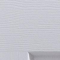 6 panel Primed White Woodgrain effect LH & RH Internal Door, (H)2040mm (W)726mm