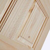 6 panel Unglazed Softwood LH & RH Internal Single swing Door, (H)1981mm (W)610mm