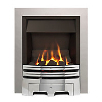 Sirocco Westerly Open Fronted Chrome effect Gas Fire