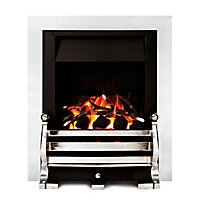 Sirocco Fairfield Chrome effect Gas Fire