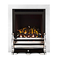 Sirocco Fairfield Glass Fronted Chrome effect Gas Fire