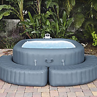 Lay-Z-Spa Grey Plastic Spa surround