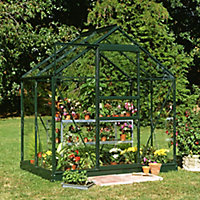 6x4 Horticultural glass Apex Greenhouse