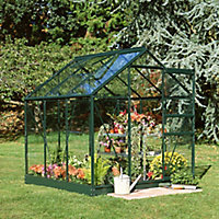 6x6 Horticultural glass Apex Greenhouse