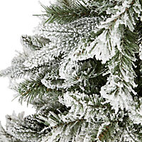 "72"" Corbier Flocked Artificial Christmas tree"