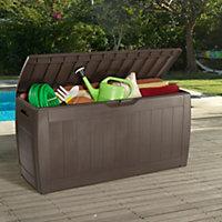 Hollywood Wood effect Plastic Garden storage box