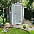 6x4 Manor Apex roof Plastic Shed