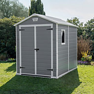 8x6 Manor Apex roof Plastic Shed