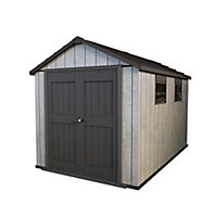 Keter Oakland 11x7.5 Apex Plastic Shed