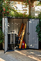 6x2 Oakland High Store Flat roof Plastic Tall garden storage cabinet