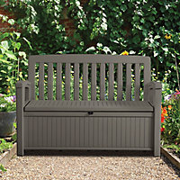 Plastic Brown Garden storage box