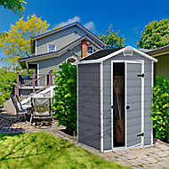 Keter Manor 4x3 Apex Plastic Shed (Base included)