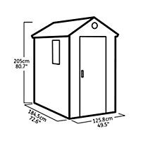 6x4 Darwin Apex roof Tongue & groove Plastic Shed Base included