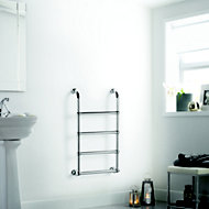 Heating Style Upton Electric Towel warmer (H)900mm (W)500mm