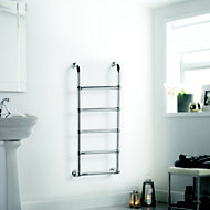 Heating Style Upton Electric Towel warmer (H)1200mm (W)500mm