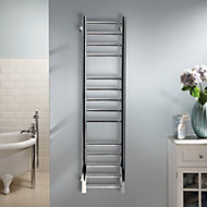Heating Style Milton 45W Electric Silver Towel warmer (H)1000mm (W)300mm