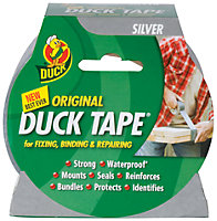 Duck Original Silver Silver Tape (L)50m (W)50mm