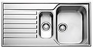 Franke Ascona Polished Stainless steel Stainless steel 1.5 Bowl Sink & drainer