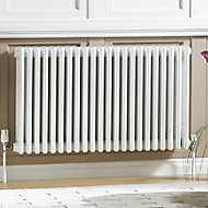 Acova 2 Column radiator, White (W)628mm (H)600mm
