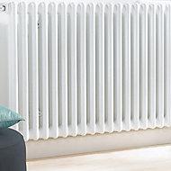 Acova 2 Column radiator, White (W)1410mm (H)600mm
