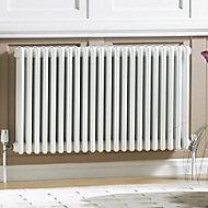 Acova 3 Column radiator, White (W)628mm (H)600mm
