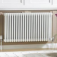 Acova 4 Column radiator, White (W)628mm (H)600mm