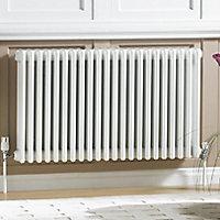 Acova 4 Column radiator, White (W)812mm (H)600mm