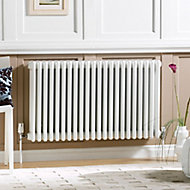 Acova 4 Column radiator, White (W)1226mm (H)600mm