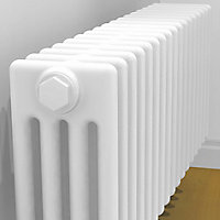 Acova 4 Column radiator, White (W)1042mm (H)300mm