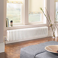 Acova 4 Column radiator, White (W)1502mm (H)300mm