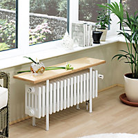 Acova 4 Column radiator, White (W)1000mm (H)455mm