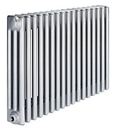 Acova 3 Column Radiator, Silver (W)812mm (H)600mm