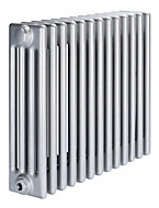 Acova 4 Column radiator, Silver (W)628mm (H)600mm