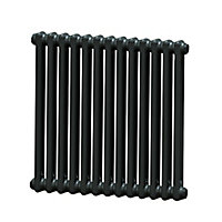 Acova 2 Column radiator, Volcanic (W)628mm (H)600mm
